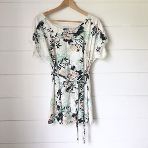 OH BABY Mix Media Floral Top